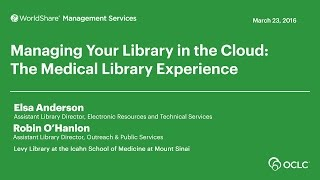 Download Levy Library at the Icahn School of Medicine at Mount Sinai: Managing the Library in the Cloud Video
