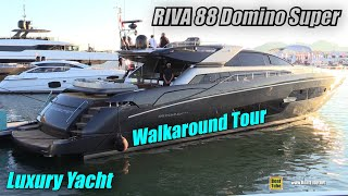 Download 2019 Riva 88 Domino Super Luxury Yacht - Deck Interior Walkaround - 2018 Cannes Yachting Festival Video