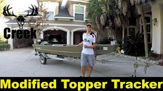 Download Modified 15 topper tacker jon boat Video