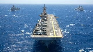 Download Two lranIan fast boats approached the US Wasp-class amphibious assault ship Video