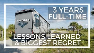 Download Lessons Learned and Biggest Regret After 3 Years Full-Time RV Living Video