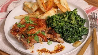 Download My Classic Pork Chop with Broccoli Rabe Dinner | Ep 1331 Video