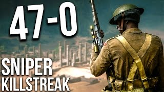 Download BATTLEFIELD 1 47 KILLSTREAK SNIPING ONLY M1903 | BF1 Scout Gameplay Video