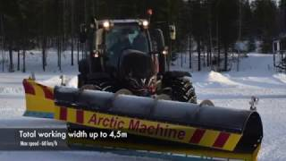 Download Snow ploughing in Lapland Video