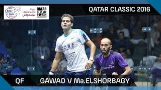 Download Squash: Gawad v Mar. ElShorbagy - Qatar Classic 2016 QF Highlights Video