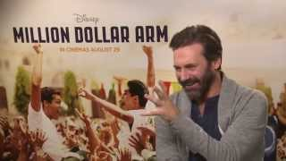Download Jon Hamm: ″Cricket won't ever catch on in the US - it's too long!″ - Million Dollar Arm interview Video
