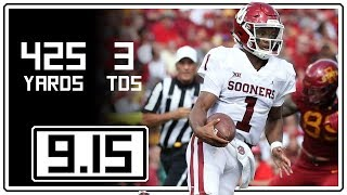 Download Kyler Murray Full Highlights Oklahoma vs Iowa State || 9.15.18 || 425 Total Yards, 3 TDs Video