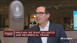 Download Sec. Mnuchin: China selling US Treasurys would be costly for them Video