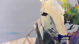 Download 02 - Démonstration de peinture au couteau par Christian Jequel: ″Chevaux″ Video