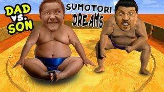 Download Dad vs. Son SUMO WRESTLING! Sumotori Dreams Co-Op Gameplay w/ Face Cam! Video