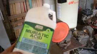 Download muriatic acid to clean a gas tank fast and easy Video