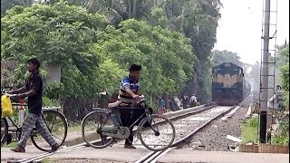 Download Careless Walking in front of Freight Train (BTO) of Bangladesh Railway Video