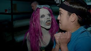 Download Sasha Banks becomes a WWE Zombie to terrify Raw Superstars Video