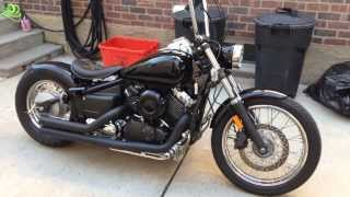 Download 2008 Yamaha V-Star 650 after market Gas cap, Oil Temp Gauge, Tach Gauge mods. Video