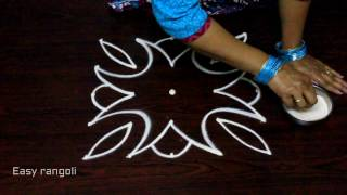 Download easy rangoli designs with dots || kolam designs ||easy muggulu designs Video