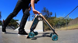 Download WORLD'S FIRST SELF-FOLDING LONGBOARD! Video