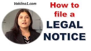 Download What is a Legal Notice ? , How to file a legal notice ?, legal notice for nonpayment Video