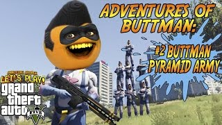 Download Adventures of Buttman #2: BUTTMAN PYRAMID ARMY! (Annoying Orange GTA V) Video