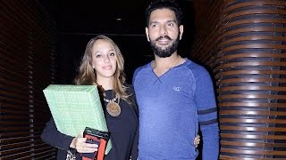Download Yuvraj Singh And Hazel Keech Spotted At A Bash Video