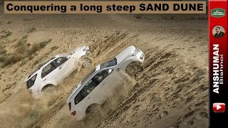 Download Conquering a steep dune- Endeavour, Fortuner, Scorpio, Isuzu V-Cross Video