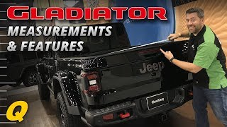 Download Jeep Gladiator Bed Dimensions & Features - Closer Look Video