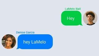 Download LaMelo Ball Texting Lonzo Ball's Girlfriend (Denise Garcia) Video