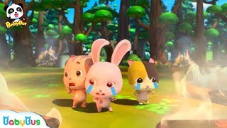 Download Friends are Trapped in Forest Fire | Super Panda Firefighter | Monster Car Rescue Team | BabyBus Video