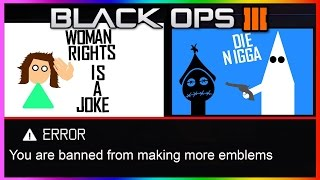 Download THE MOST OFFENSIVE EMBLEMS IN BLACK OPS 3!!! (BLACK OPS 3 RUDE OFFENSIVE EMBLEMS) Video