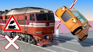 Download VIDS for KIDS in 3d (HD) - Train, Cars and Railroad Crossings Crashes 1 - AApV Video
