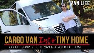 Download City Van Dwellers Save Money In This Stealth Van Conversion | Van Tour Video