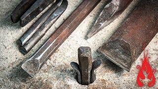 Download Blacksmithing - Forging tools for stone splitting Video