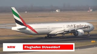 Download Flughafen Flugzeuge Start und Landung Airport DUsseldorf Video