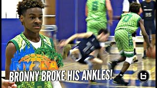 Download LeBron James Jr BREAKS Defender's Ankles! Rayvon Griffith Hits The Mean Dunk at NY2LA Debut! Video