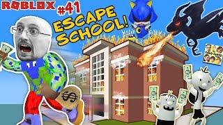 Download ESCAPE SCHOOL with DRAGON & Get Rich 💲 Roblox #41 💰 FGTEEV Video