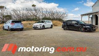 Download Hyundai i30 N v VW Golf GTI v Honda Civic Type R | motoring.au Video