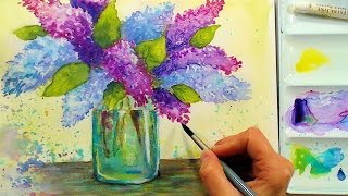 Download LIVE! Lilacs in Watercolor 6:30pm Eastern Time Saturday Video
