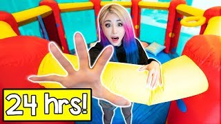 Download 24 Hours In A Bounce House Challenge! Video