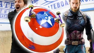 Download CAPTAIN AMERICA'S SHIELD | INFINITY WARS SKATE EVERYTHING Video
