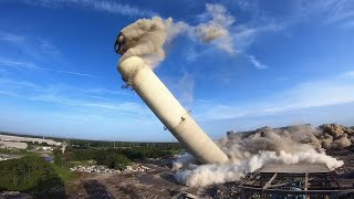 Download Boilers, stack implodes in Jacksonville Florida Video