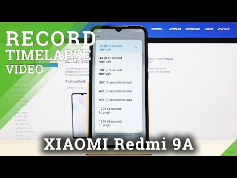 How to Change Timelapse Video in XIAOMI Redmi 9A – Speed Up Video