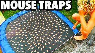 Download TRAMPOLINE VS MOUSE TRAPS!!! Video