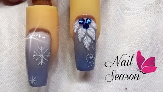 Download Uñas navideñas acrilicas esculturales Nevado azul Xmas Nail art 2017 Video