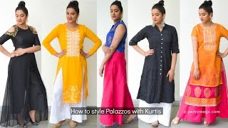 Download How to style palazzo with kurtis | Indian ethnic wear | Perkymegs Video