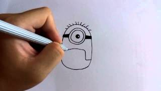 Download วาดการ์ตูนกันเถอะ สอนวาดการ์ตูน Carl กล้วยหอม มินเนี่ยน ง่ายๆ หัดวาดตามได้ Video