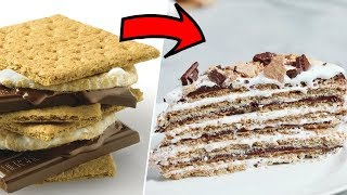 Download 16 Layer S'mores Cake- Buzzfeed Test #137 Video