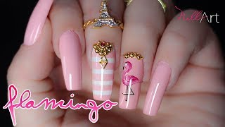 Download Nail Art Flamingo - Nill Art Video