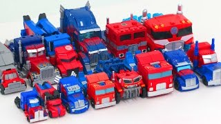 Download Transformers Mini & Deluxe Optimus Prime 14 Vehicles Truck Transformation Robot Car Toys Video