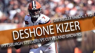 Download DeShone Kizer BROWNS DEBUT Highlights vs Steelers // 20/30 222 Yards, 2 TDs // 9.10.17 Video