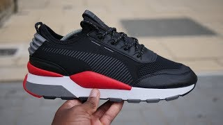 Download Puma RS-0 Reinvention 'Play' Quick Look & On Feet (Black/Red/Grey) Video