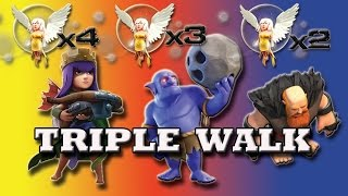 Download TRIPLE WALK | (AQ+BOWLERS+GIANTS) Walk | FIRST TIME EVER | New Strategy for TH9 | Clash of clans Video